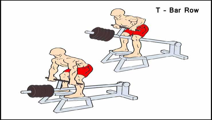 Back Workout For Men in Hindi T Bar Row